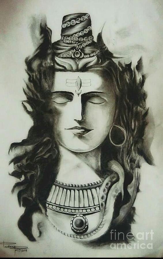 Lord Shiva Pencil Art