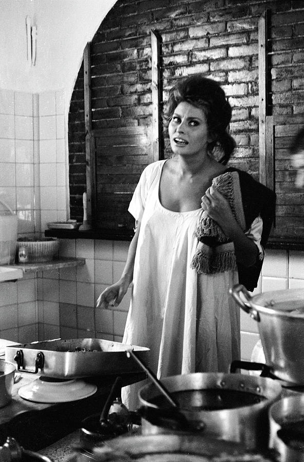 Loren Cooking Photograph by Alfred Eisenstaedt