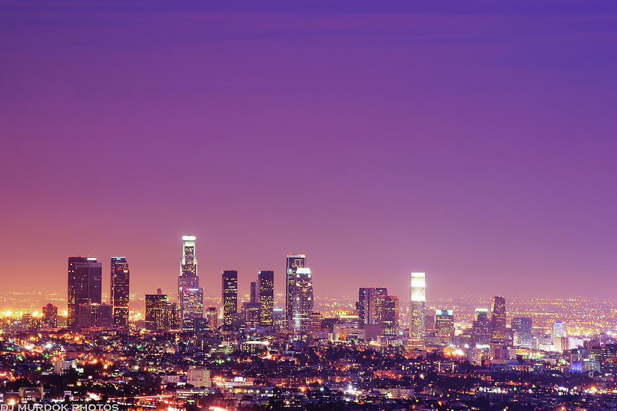 Los Angeles At Dusk Photograph by Dj Murdok Photos