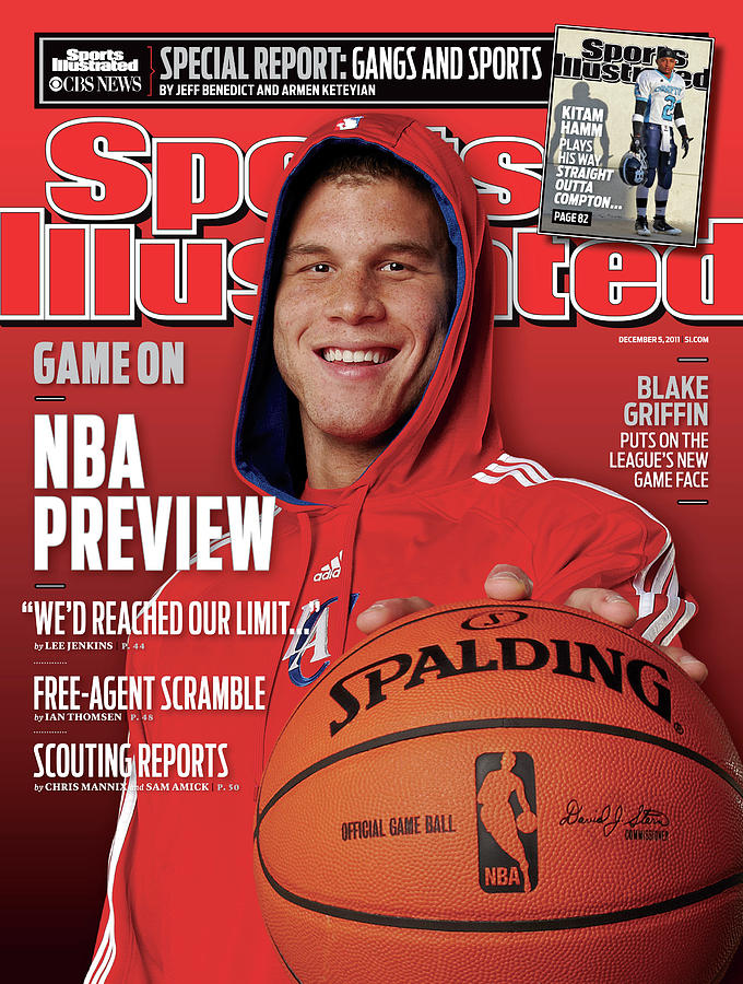 Los Angeles Clippers Blake Griffin, 2011-12 Nba Basketball Sports Illustrated Cover Photograph by Sports Illustrated