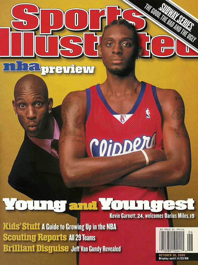 Los Angeles Clippers Darius Miles And Minnesota Sports Illustrated Cover Photograph by Sports Illustrated