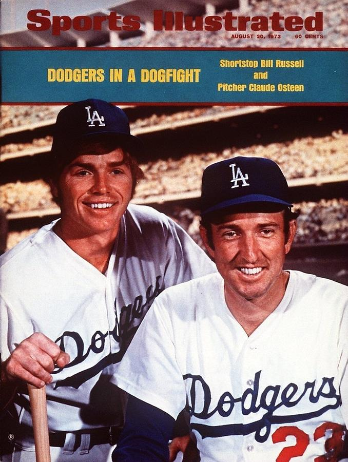 Los Angeles Dodgers Bill Russell And Claude Osteen Sports Illustrated Cover Photograph by Sports Illustrated