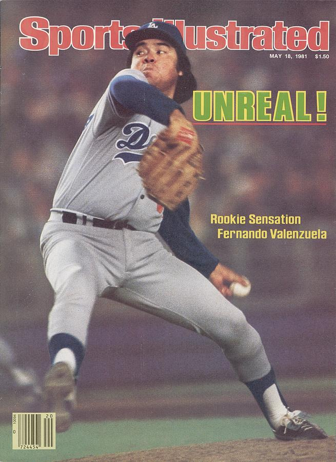 Los Angeles Dodgers Fernando Valenzuela... Sports Illustrated Cover Photograph by Sports Illustrated