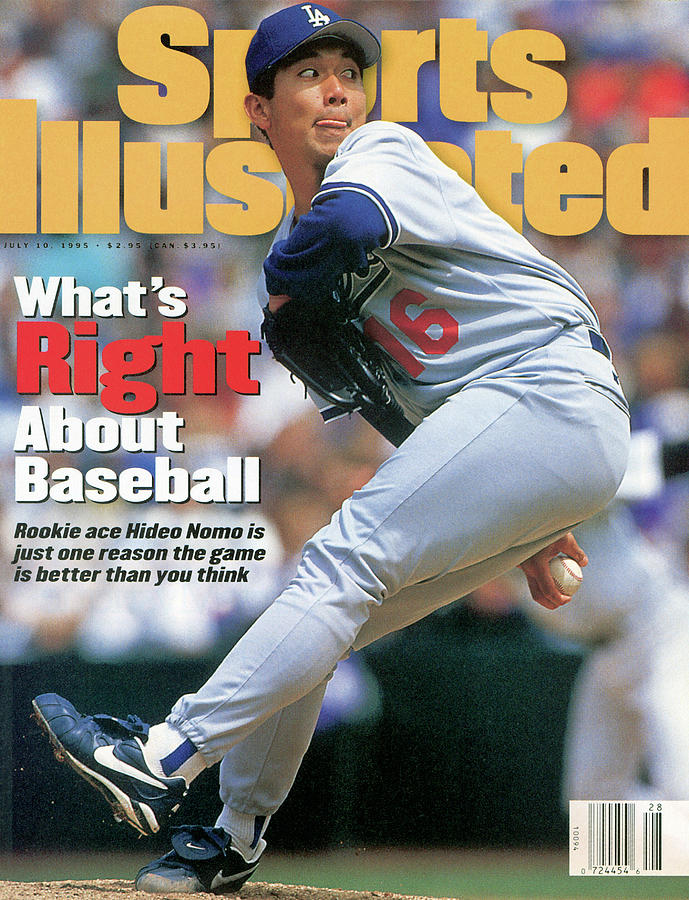 Los Angeles Dodgers Hideo Nomo... Sports Illustrated Cover Photograph by Sports Illustrated