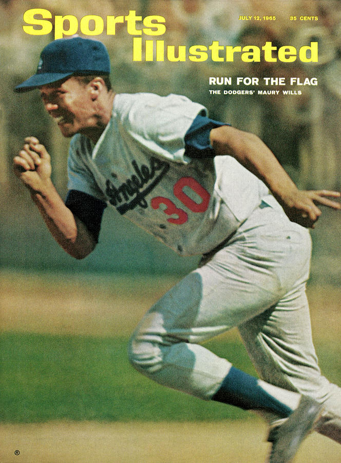Los Angeles Dodgers Maury Wills... Sports Illustrated Cover Photograph by Sports Illustrated
