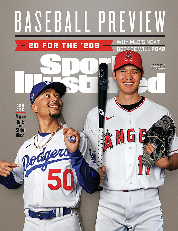 Los Angeles Dodgers Mookie Betts And Los Angeles Angels Sports Illustrated Cover Photograph by Sports Illustrated
