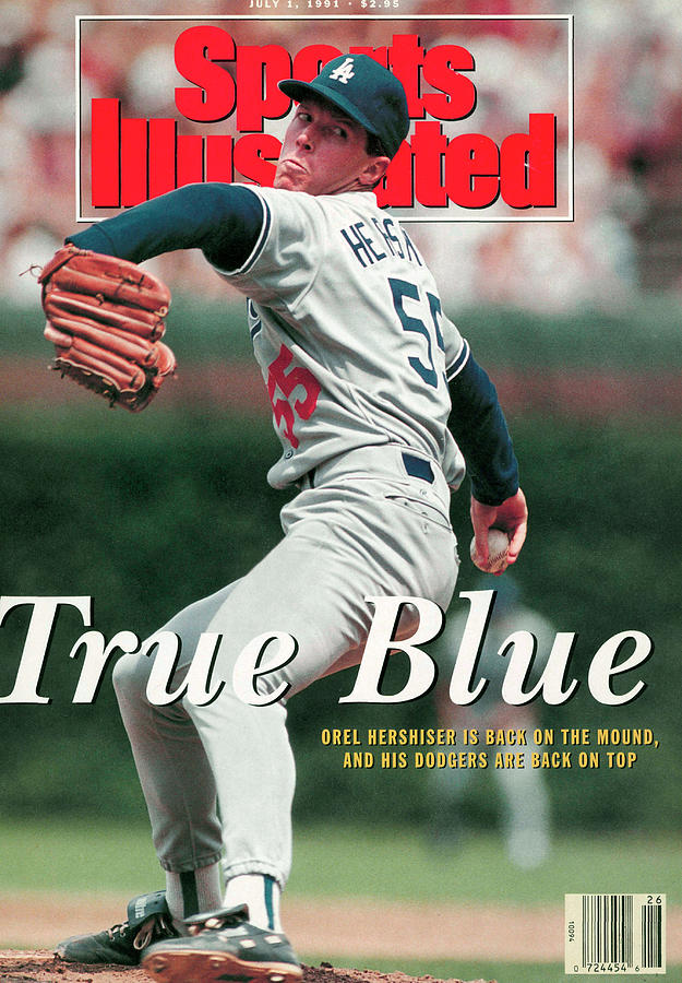 Los Angeles Dodgers Orel Hershiser... Sports Illustrated Cover Photograph by Sports Illustrated
