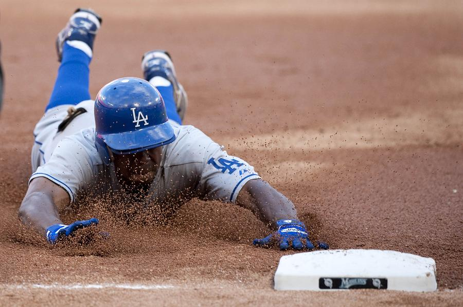 Los Angeles Dodgers V Florida Marlins Photograph by Ronald C. Modra/sports Imagery