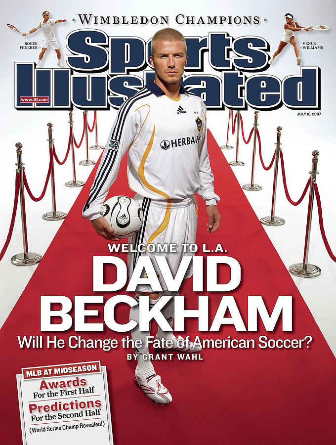 Los Angeles Galaxy David Beckham Sports Illustrated Cover Photograph by Sports Illustrated