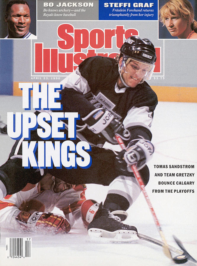 Los Angeles Kings Tomas Sandstrom, 1990 Nhl Smythe Division Sports Illustrated Cover Photograph by Sports Illustrated