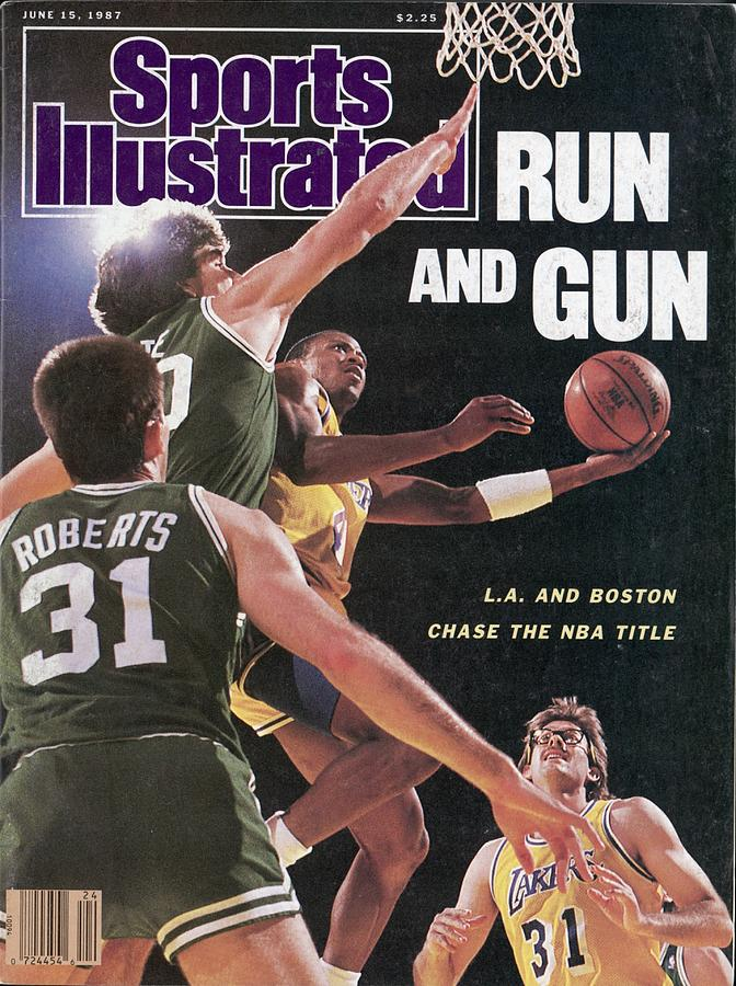 Los Angeles Lakers Byron Scott, 1987 Nba Finals Sports Illustrated Cover Photograph by Sports Illustrated