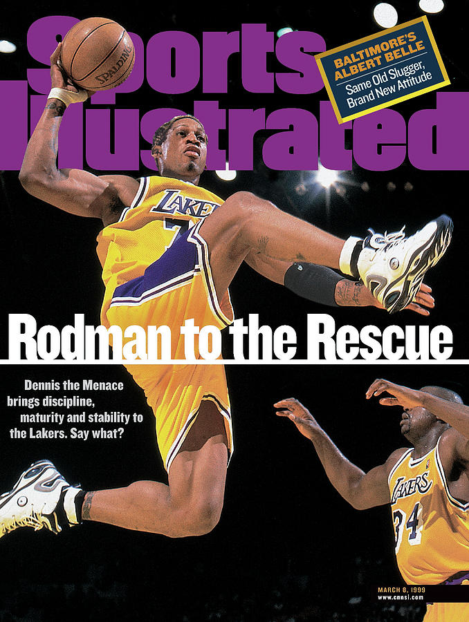 Los Angeles Lakers Dennis Rodman... Sports Illustrated Cover Photograph by Sports Illustrated