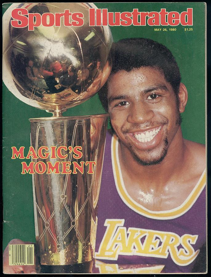 Los Angeles Lakers Earvin Magic Johnson, 1980 Nba Finals Sports Illustrated Cover Photograph by Sports Illustrated