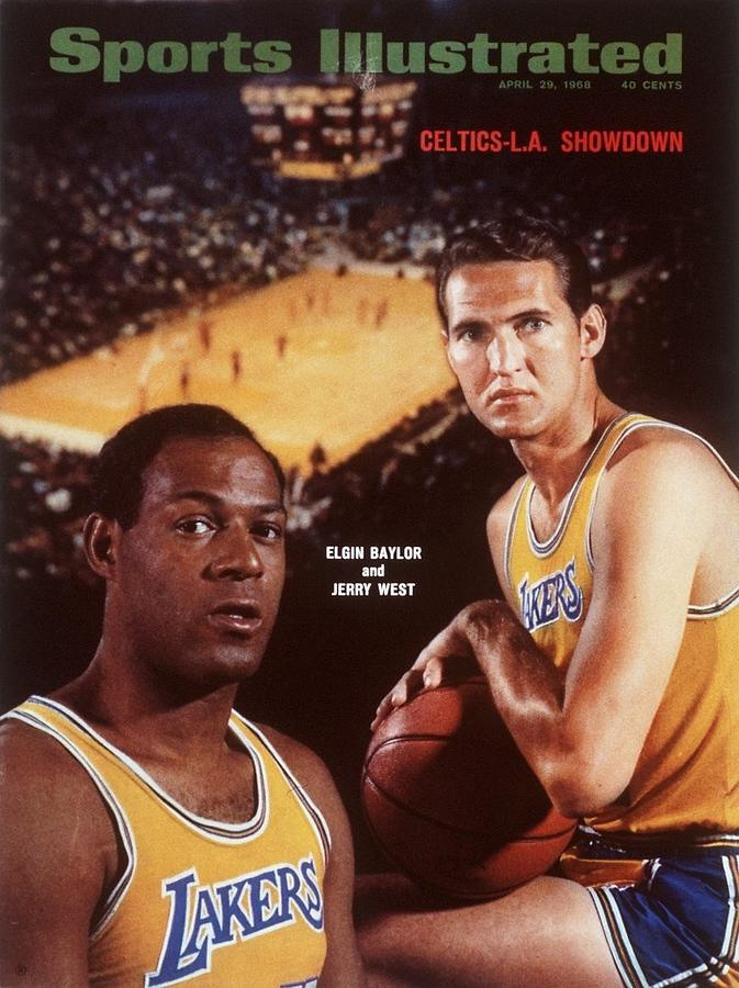 Los Angeles Lakers Elgin Baylor And Jerry West Sports Illustrated Cover Photograph by Sports Illustrated