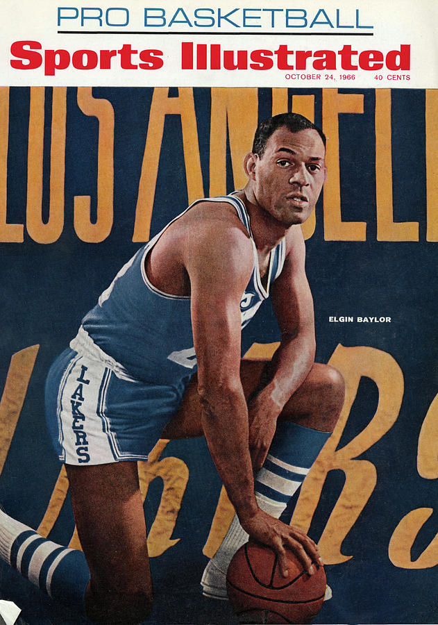 Los Angeles Lakers Elgin Baylor Sports Illustrated Cover Photograph by Sports Illustrated