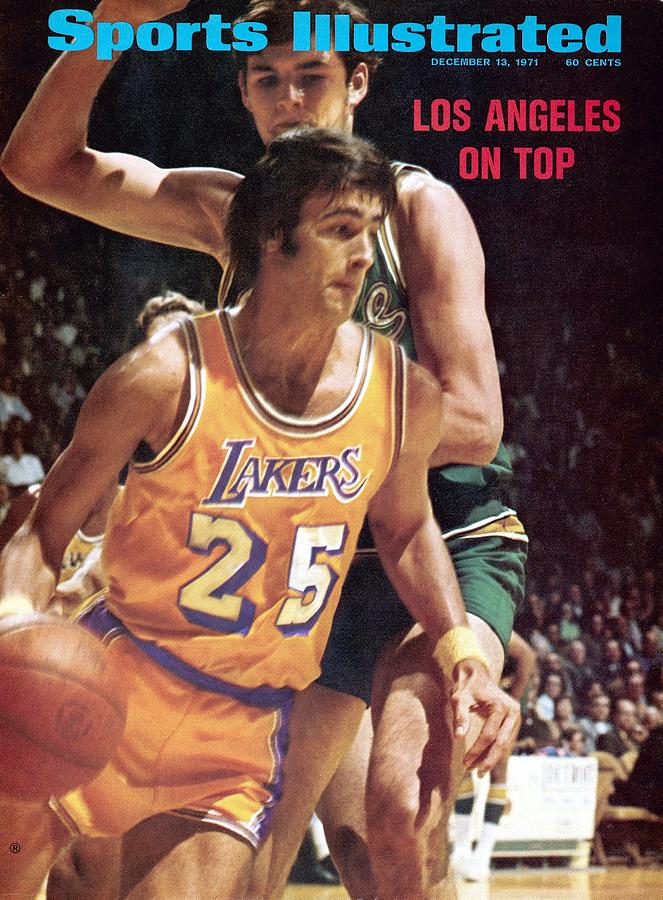 Los Angeles Lakers Gail Goodrich... Sports Illustrated Cover Photograph by Sports Illustrated