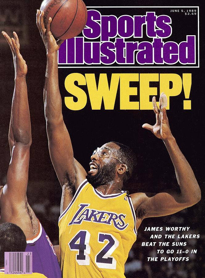 Los Angeles Lakers James Worthy, 1989 Nba Western Sports Illustrated Cover Photograph by Sports Illustrated