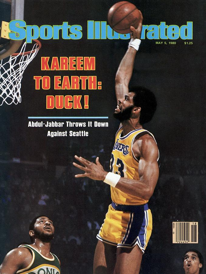 Los Angeles Lakers Kareem Abdul-jabbar, 1980 Nba Western Sports Illustrated Cover Photograph by Sports Illustrated