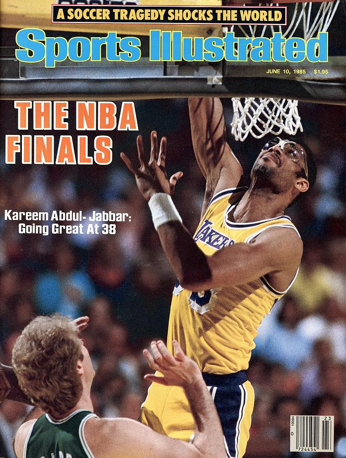 Los Angeles Lakers Kareem Abdul-jabbar, 1985 Nba Finals Sports Illustrated Cover Photograph by Sports Illustrated