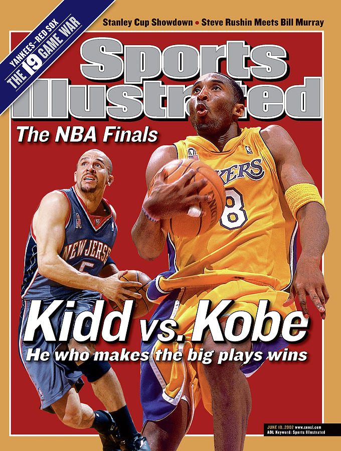 Los Angeles Lakers Kobe Bryant And New Jersey Nets Jason Sports Illustrated Cover Photograph by Sports Illustrated