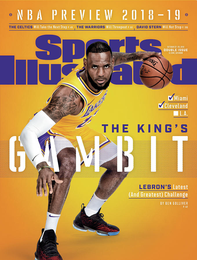 Los Angeles Lakers LeBron James, 2018-19 Nba Basketball Sports Illustrated Cover Photograph by Sports Illustrated