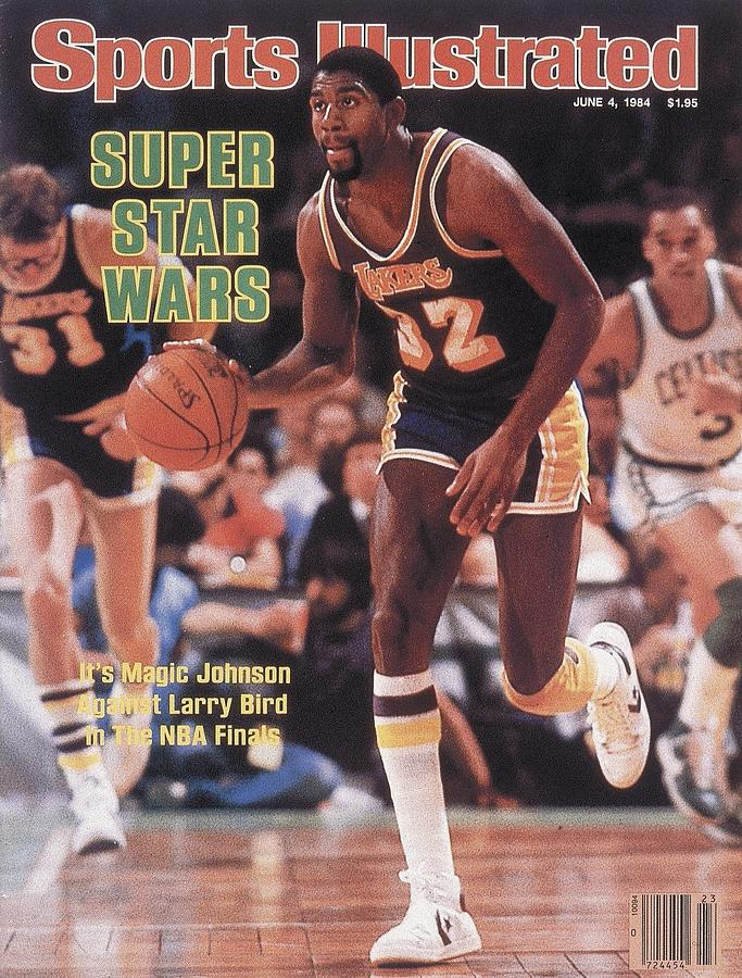 Los Angeles Lakers Magic Johnson, 1984 Nba Finals Sports Illustrated Cover Photograph by Sports Illustrated