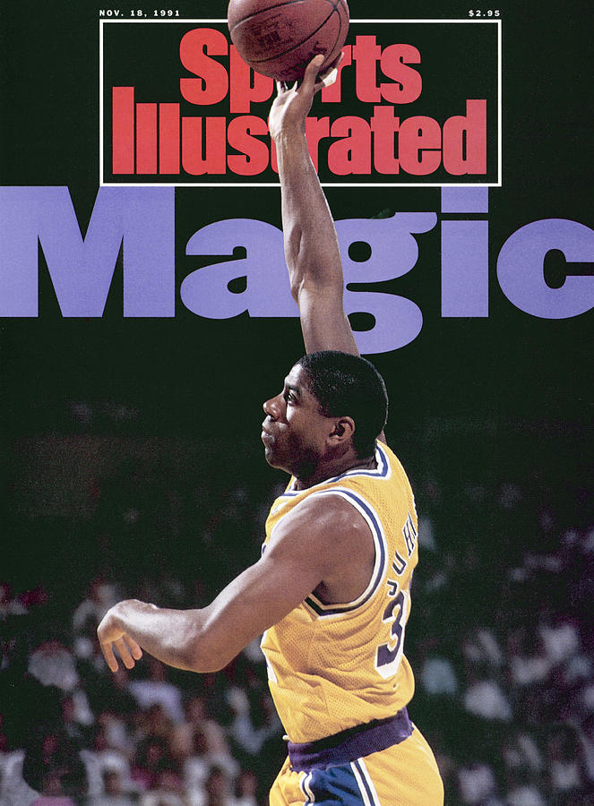 Los Angeles Lakers Magic Johnson, 1990 Nba Western Sports Illustrated Cover Photograph by Sports Illustrated