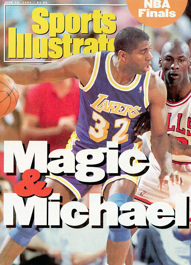Los Angeles Lakers Magic Johnson, 1991 Nba Finals Sports Illustrated Cover Photograph by Sports Illustrated