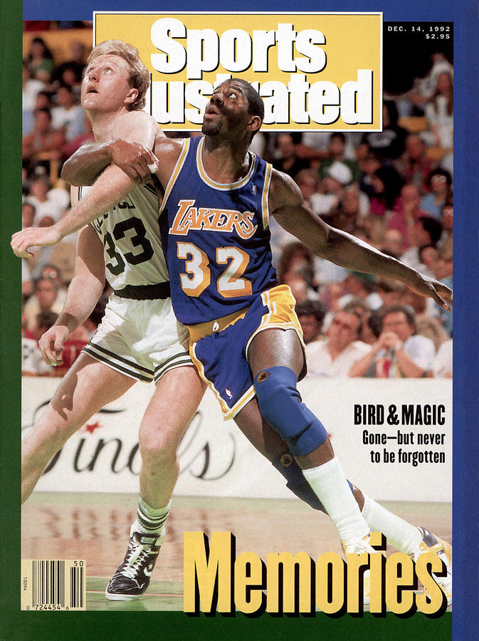Los Angeles Lakers Magic Johnson And Boston Celtics Larry Sports Illustrated Cover Photograph by Sports Illustrated
