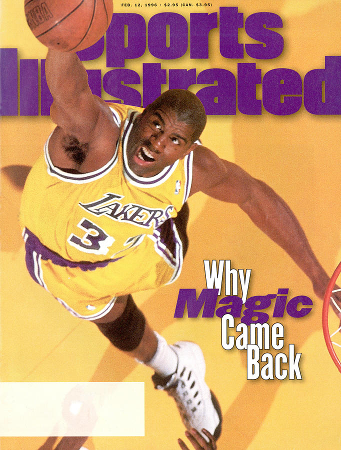 Los Angeles Lakers Magic Johnson Sports Illustrated Cover Photograph by Sports Illustrated