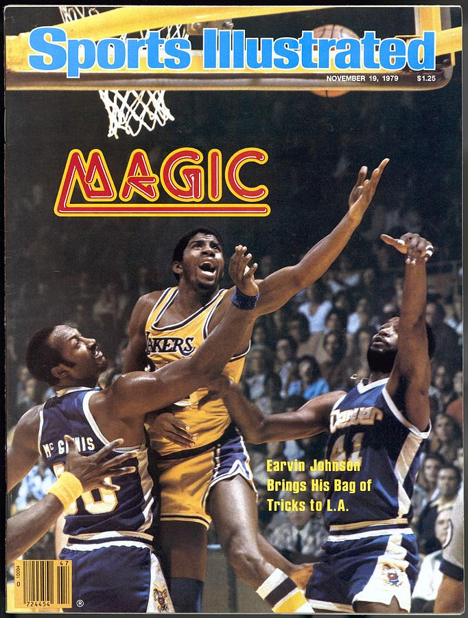 Los Angeles Lakers Magic Johnson... Sports Illustrated Cover Photograph by Sports Illustrated