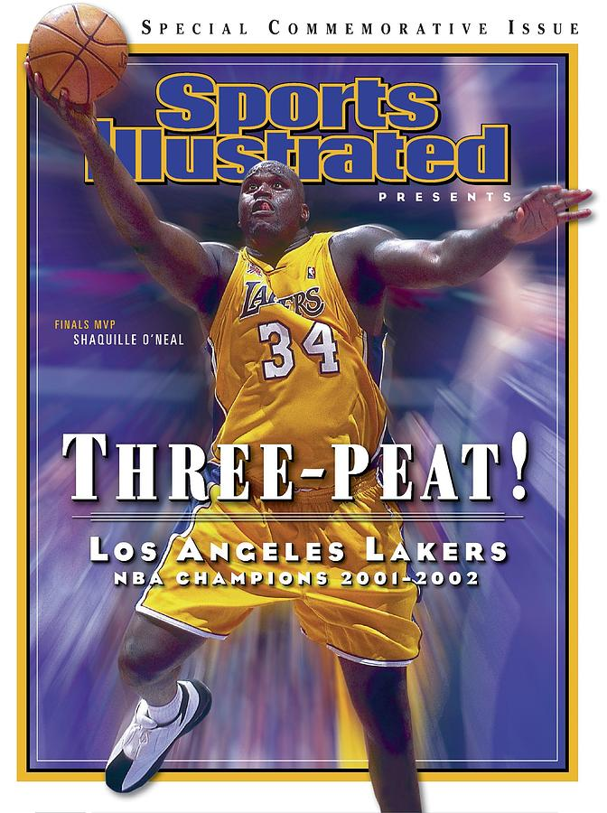 Los Angeles Lakers Shaquille Oneal, 2001 - 2002 Nba Sports Illustrated Cover Photograph by Sports Illustrated