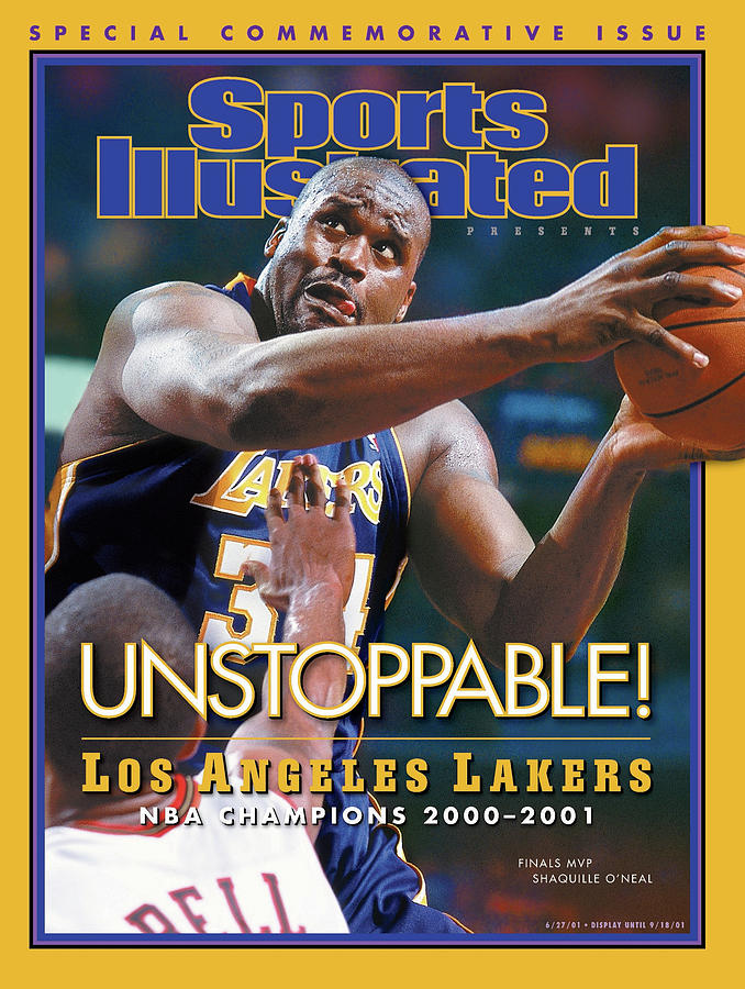 Los Angeles Lakers Shaquille Oneal, 2001 Nba Champions Sports Illustrated Cover Photograph by Sports Illustrated