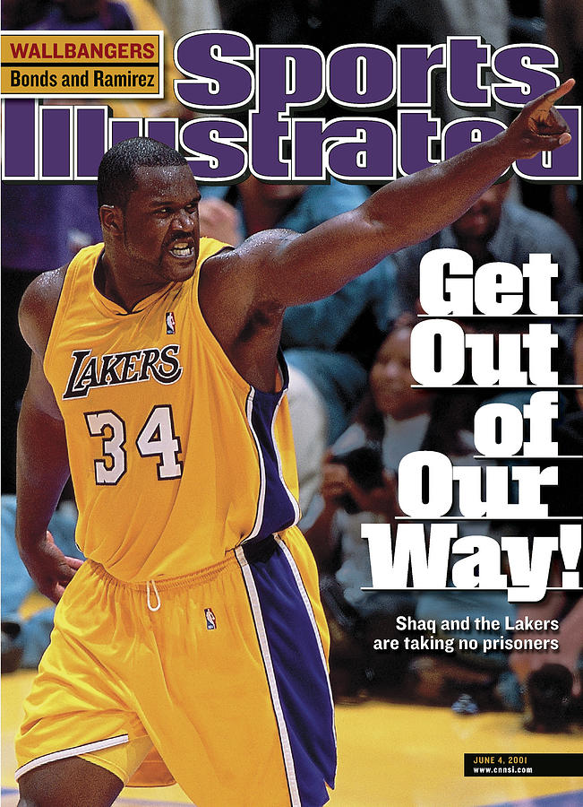 Los Angeles Lakers Shaquille Oneal, 2001 Nba Western Sports Illustrated Cover Photograph by Sports Illustrated