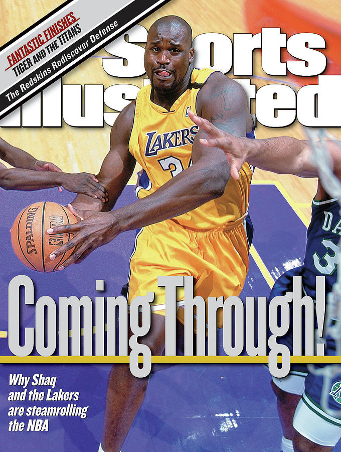 Los Angeles Lakers Shaquille Oneal... Sports Illustrated Cover Photograph by Sports Illustrated