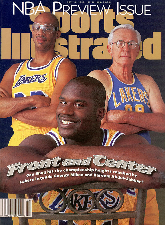 Los Angeles Lakers Shaquille Oneal With Kareem Abdul-jabbar Sports Illustrated Cover Photograph by Sports Illustrated