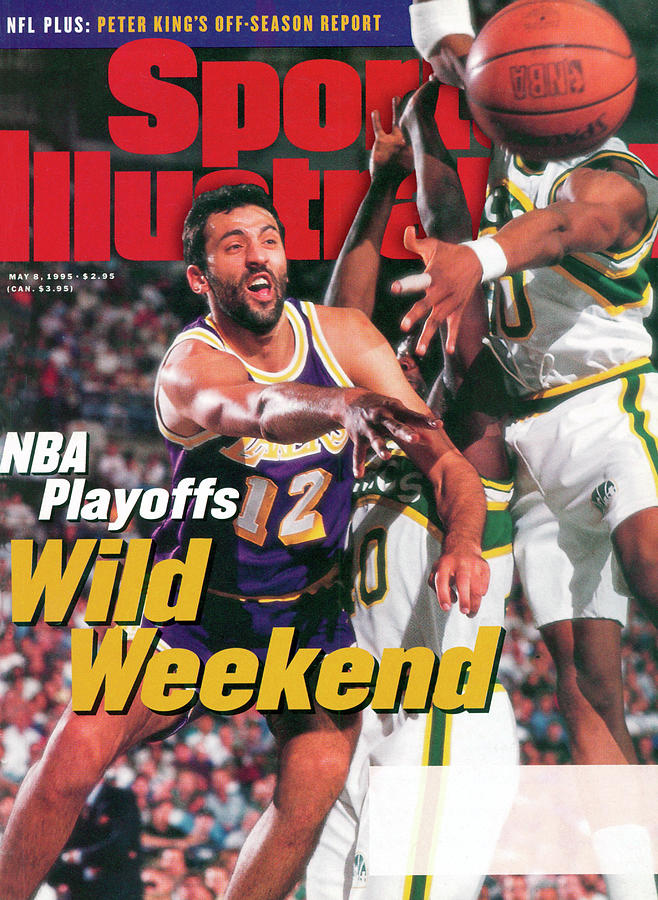 Los Angeles Lakers Vlade Divac, 1995 Nba Western Conference Sports Illustrated Cover Photograph by Sports Illustrated