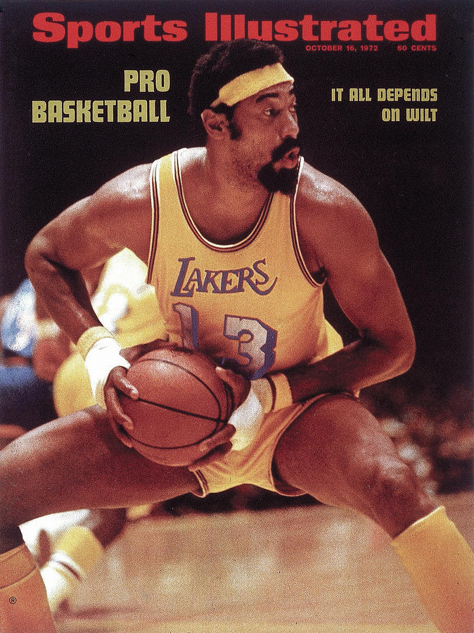 Los Angeles Lakers Wilt Chamberlain, 1972 Nba Western Sports Illustrated Cover Photograph by Sports Illustrated