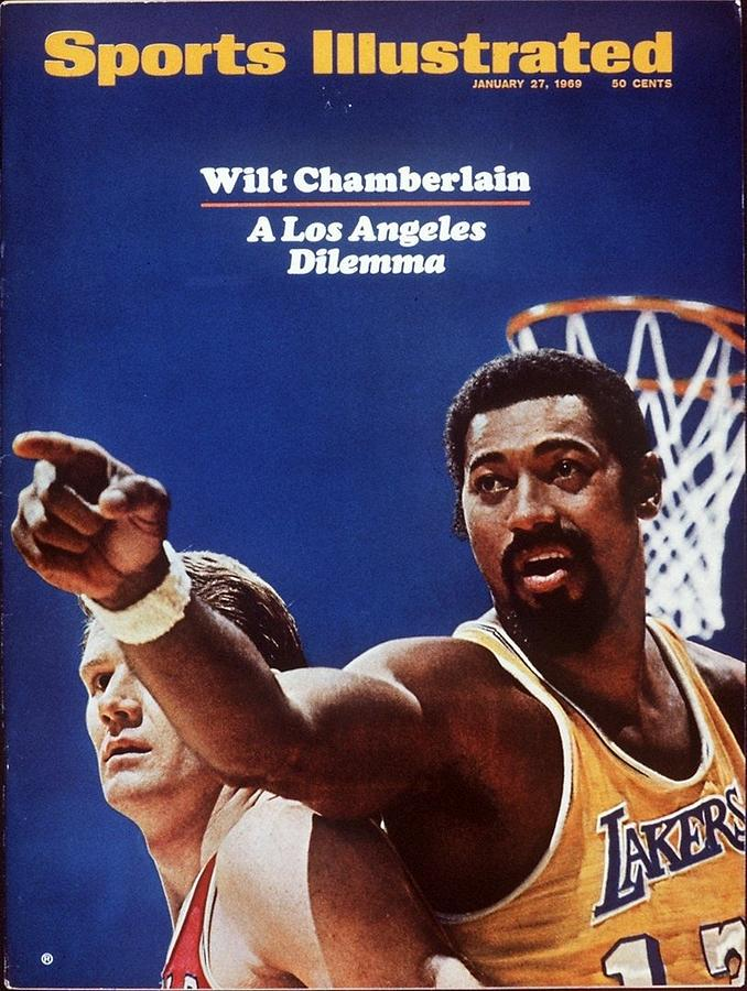 Los Angeles Lakers Wilt Chamberlain Sports Illustrated Cover Photograph by Sports Illustrated