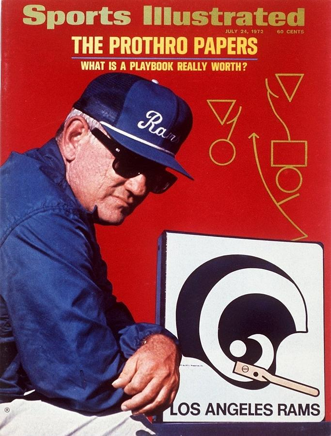 Los Angeles Rams Coach Tommy Prothro Sports Illustrated Cover Photograph by Sports Illustrated