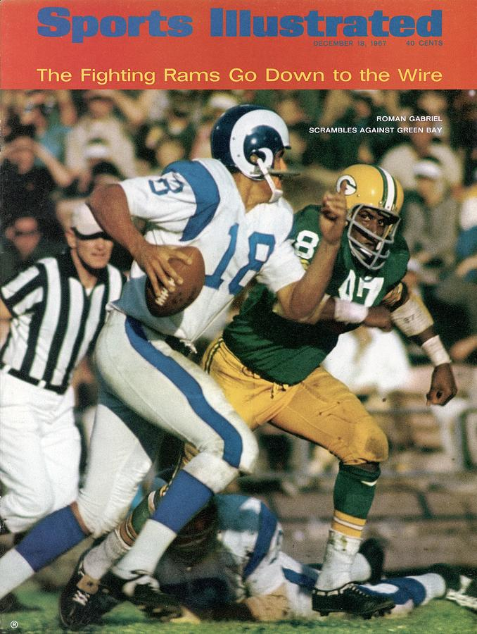 Los Angeles Rams Roman Gabriel Sports Illustrated Cover Photograph by Sports Illustrated