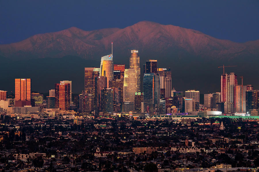 Los Angeles Skyline at Dusk by Kelley King