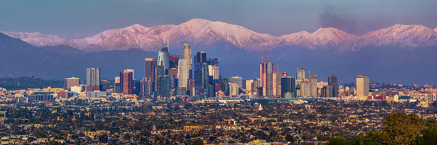 Los Angeles Skyline Panoramic by Kelley King