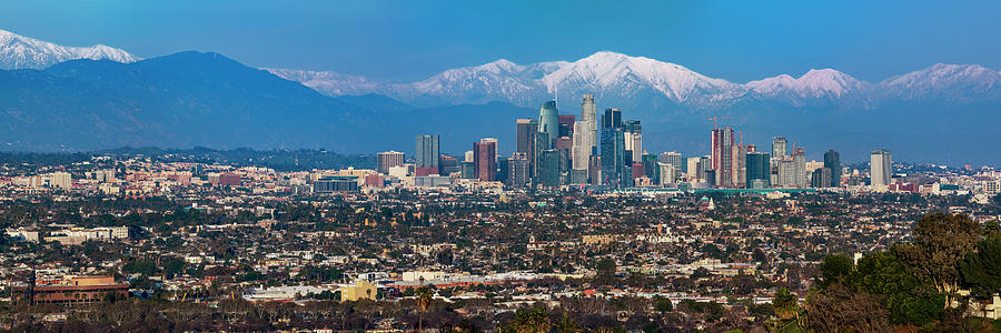 Los Angeles Snow Capped Mountains by Kelley King