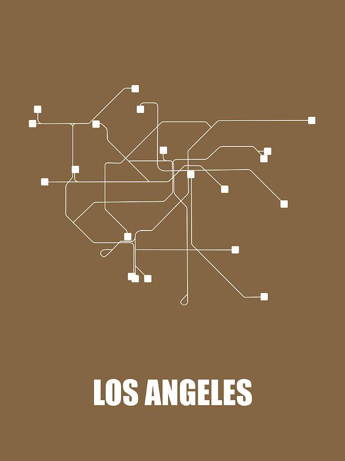 Los Angles Subway Map.Los Angeles Subway Map 2 By Naxart Studio