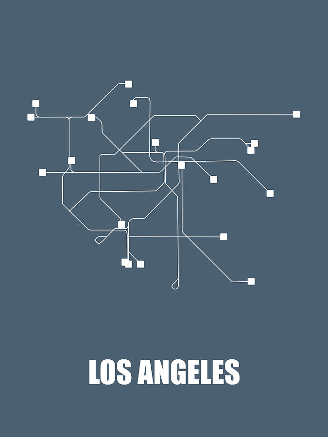 Subway Map Graphic Design.Los Angeles Subway Map By Naxart Studio