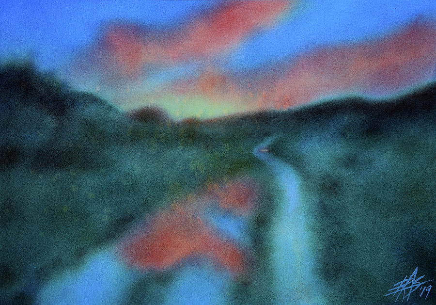 Landscape Mixed Media - Los Penasquitos Canyon Xvi  by Robin Street-Morris