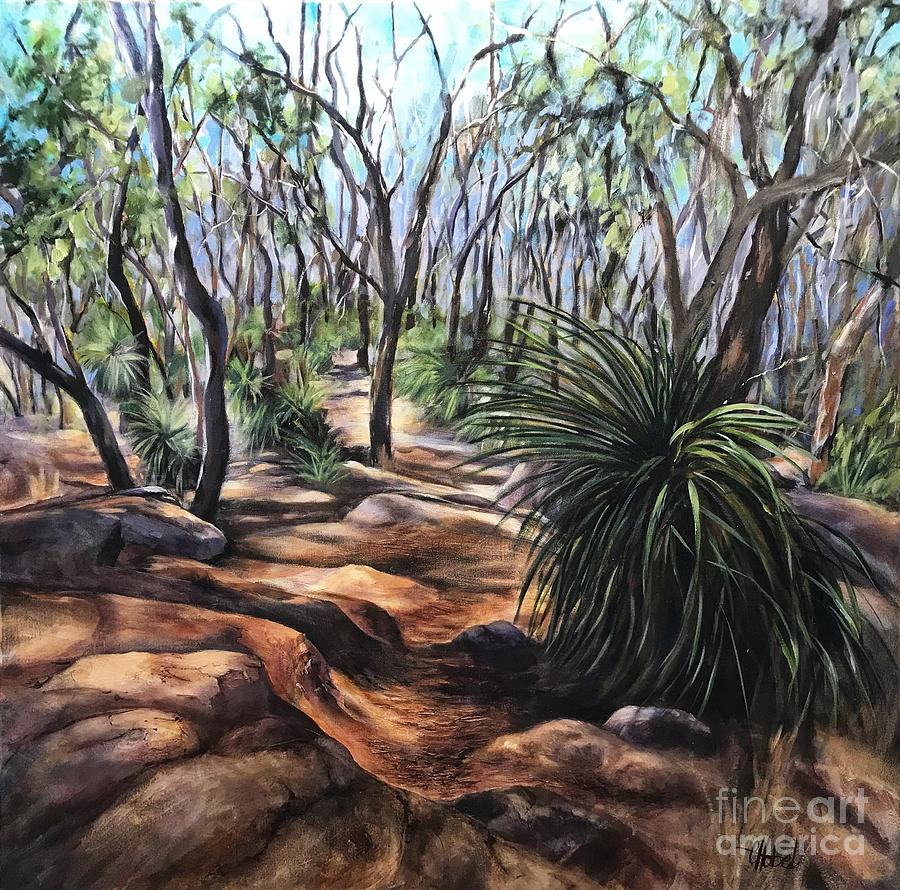 Lost Australian Bush Painting by Chris Hobel
