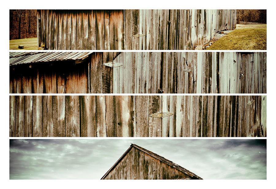 Lost Creek Barn Tetraptych by Marianne Campolongo