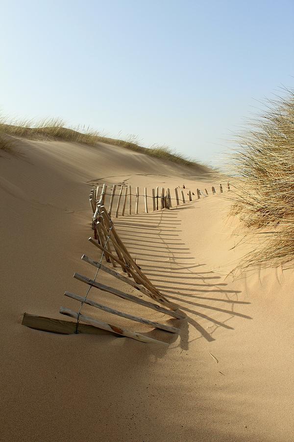 Lost Fence, Balmedie Beach Photograph by Scott Walker